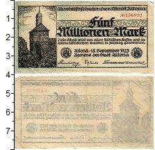 Изображение Банкноты Германия : Нотгельды 5000000 марок 1923  VF Альтона