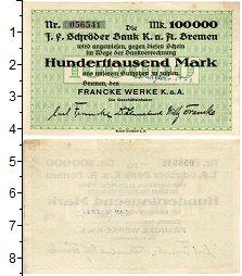 Изображение Банкноты Германия : Нотгельды 10000000 марок 1923  XF