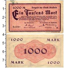 Изображение Банкноты Германия : Нотгельды 1000 марок 1923  VF Арнштадт