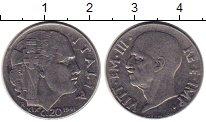Изображение Монеты Италия 20 сентесим 1941 Медно-никель XF+ Виктор Эммануил III