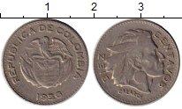Изображение Монеты Колумбия 10 сентаво 1956 Медно-никель XF
