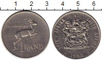 Изображение Монеты ЮАР 1 ранд 1983 Медно-никель XF- Антилопа