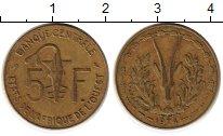 Изображение Монеты Африка Французская Западная Африка 5 франков 1974 Латунь XF