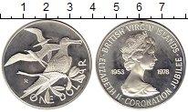 Изображение Монеты Северная Америка Виргинские острова 1 доллар 1978 Серебро Proof-