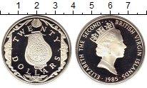 Изображение Монеты Северная Америка Виргинские острова 20 долларов 1985 Серебро Proof