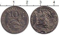 Изображение Монеты Европа Франция 10 франков 1986 Медно-никель UNC-