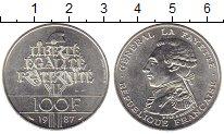 Изображение Монеты Франция 100 франков 1987 Серебро UNC Ла Файет
