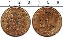 Изображение Монеты Африка Кения 10 центов 1971 Латунь XF
