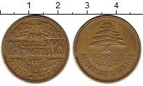 Изображение Монеты Азия Ливан 25 пиастров 1952 Латунь XF