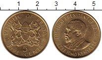 Изображение Монеты Кения 5 центов 1971 Латунь UNC- Мзее Йомо Кеньятта