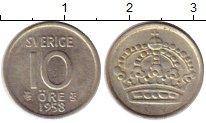 Изображение Монеты Европа Швеция 10 эре 1958 Серебро XF+