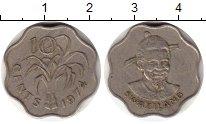 Изображение Монеты Африка Свазиленд 10 центов 1974 Медно-никель XF
