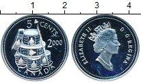 Изображение Монеты Северная Америка Канада 5 центов 2000 Серебро Proof