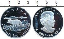 Изображение Монеты Северная Америка Канада 4 доллара 2004 Серебро Proof