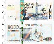 Изображение Банкноты Алжир 1000 динар 2018  UNC