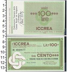 Изображение Банкноты Италия 100 лир 1977  UNC Банковский чек Тоска