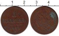Изображение Монеты Европа Австрия 1 крейцер 1851 Медь VF
