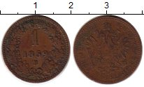 Изображение Монеты Европа Австрия 1 крейцер 1859 Медь XF-