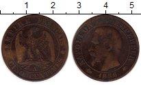 Изображение Монеты Франция 5 сантим 1856 Медь XF-