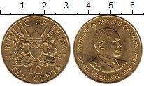 Изображение Монеты Кения 10 центов 1987 Латунь UNC-