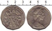 Изображение Монеты Австралия 50 центов 1982 Медно-никель UNC- Игры содружества