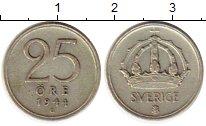 Изображение Монеты Европа Швеция 25 эре 1944 Серебро XF