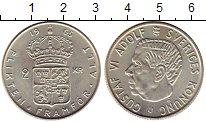 Изображение Монеты Швеция 2 кроны 1965 Серебро UNC-