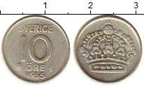 Изображение Монеты Европа Швеция 10 эре 1955 Серебро XF