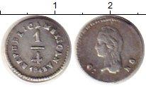 Изображение Монеты Северная Америка Мексика 1/4 реала 1843 Серебро XF