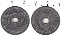 Изображение Монеты Франция 20 сантим 1945 Цинк XF ПРОБА