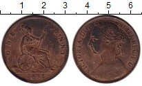 Изображение Монеты Европа Великобритания 1 пенни 1891 Бронза XF