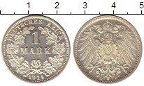 Изображение Монеты Европа Германия 1 марка 1914 Серебро Proof