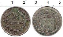 Изображение Монеты Коста-Рика 25 сентаво 1895 Серебро XF