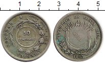 Изображение Монеты Северная Америка Коста-Рика 50 сентим 1923 Серебро XF