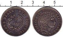 Изображение Монеты Сицилия 2 лиры 1810 Серебро XF Наполеон