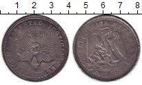 Изображение Монеты Северная Америка Мексика 2 песо 1844 Серебро VF