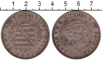 Изображение Монеты Саксония 1 талер 1855 Серебро XF