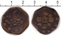 Изображение Монеты Италия Неаполь 1 торнезе 1615 Медь VF