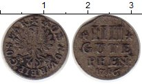 Изображение Монеты Германия Гослар 4 пфеннига 1716 Серебро XF-