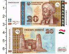 Изображение Банкноты СНГ Таджикистан 20 сомони 2017  UNC