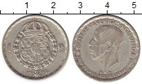Изображение Монеты Европа Швеция 1 крона 1945 Серебро XF