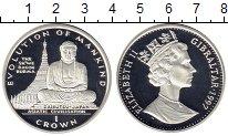 Изображение Монеты Гибралтар 1 крона 1997 Серебро Proof-