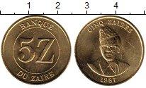 Изображение Монеты Конго Заир 5 заир 1987 Латунь UNC