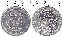 Изображение Монеты Африка Руанда 50 франков 2016 Серебро UNC