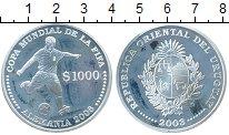 Изображение Монеты Южная Америка Уругвай 1000 песо 2003 Серебро Proof-