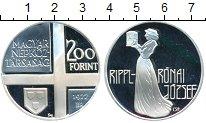 Изображение Монеты Европа Венгрия 200 форинтов 1977 Серебро Proof-
