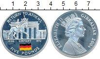 Изображение Монеты Великобритания Гибралтар 5 фунтов 2004 Серебро Proof-
