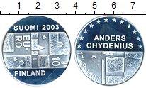 Изображение Монеты Европа Финляндия 10 евро 2003 Серебро Proof-