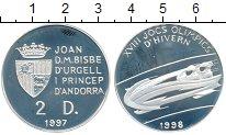 Изображение Монеты Андорра 2 динера 1997 Серебро Proof-