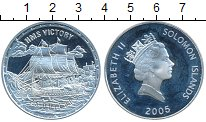 Изображение Монеты Соломоновы острова 25 долларов 2005 Серебро Proof- Корабль HMS VICTORY